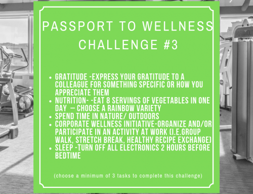 Passport to Wellness Challenge #3