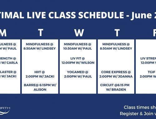 Virtual Fitness & Wellness June Updates